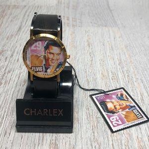Vintage 1992 Elvis Presley Collectors Stamp Watch